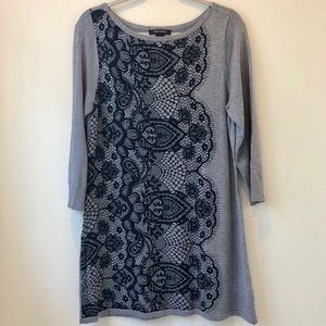 WHBM Lace Sweater Dress